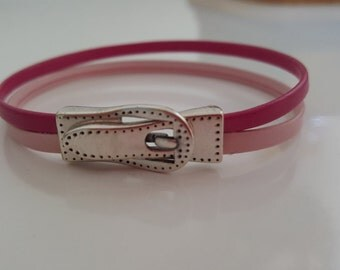 """""""PINK LADY"""" leather strap"""