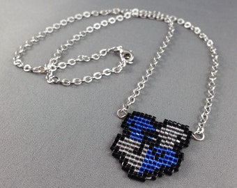 Ravenclaw Necklace - Pixel Necklace Ravenclaw Crest Necklace Pixel Jewelry 8 bit Necklace Seed Bead Neklace Harry Potter Necklace