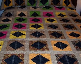 Tan Quilt for Autumn Queen size
