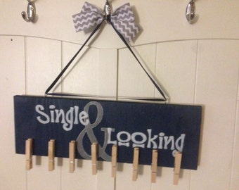Single and looking Laundry sign