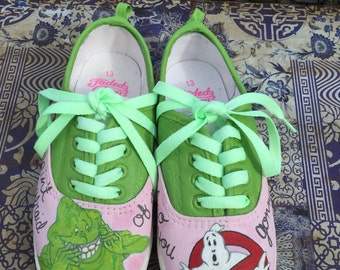 Ghostbusters Kids Handpainted Canvas Shoe with Glow Laces