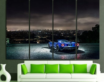 Ford GT Ford GT Canvas Ford Photo Ford Shelby Wall Art GT Wall Decor Top Gear Ford Photo Ford Mustang Sport Car Art Sport Car Ford Poster