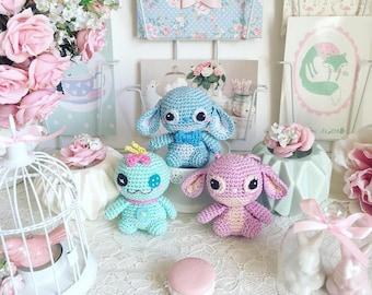 Point, Scrump, ange, Leroy ou Reuben crochet amigurumi disney de Lilo et Stitch