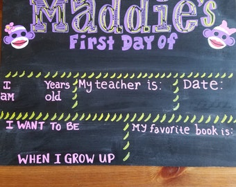 Wooden First Day of School boards