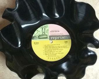 Handmade Vinyl Record Bowl