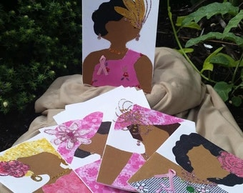 ALL FANCIED UP!  Fabric Note Cards