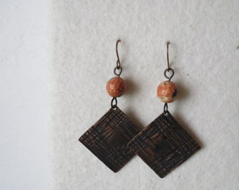 The old rumble ... copper handmade earrings