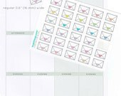 Envelope planner stickers, classic style, love heart, seal, happy mail, penpal, shipping, task, to do, RAK, mailing, post, chore, ENV2
