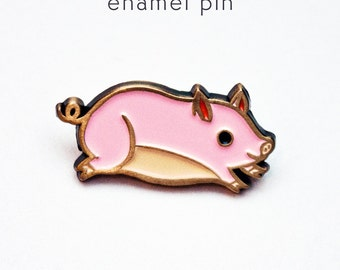 Pig Gifts Teacup Pig Pin Pig Pin Pig Jewelry Pig Brooch Pin Pink Pig Cute Enamel Pin