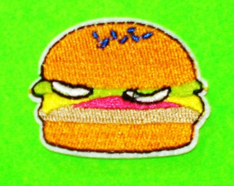 Hamburger Cute Fast Food Embroidered Cheeseburger Iron or Sew On Patch