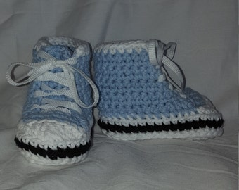 Baby Blue Sneaker Booties, size Small (6 month)