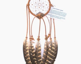 Light Rust Dream Catcher, Reeves Pheasant Feathers