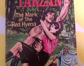 Tiny Tarzan Book in Handy Handheld Form - Illustrated Vintage Edition 1967
