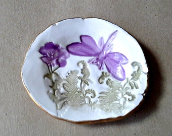 Ceramic Dragonfly Ring Dish