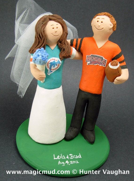miami dolphin wedding cake toppers miami dolphins football wedding cake topper cincinnati 17330