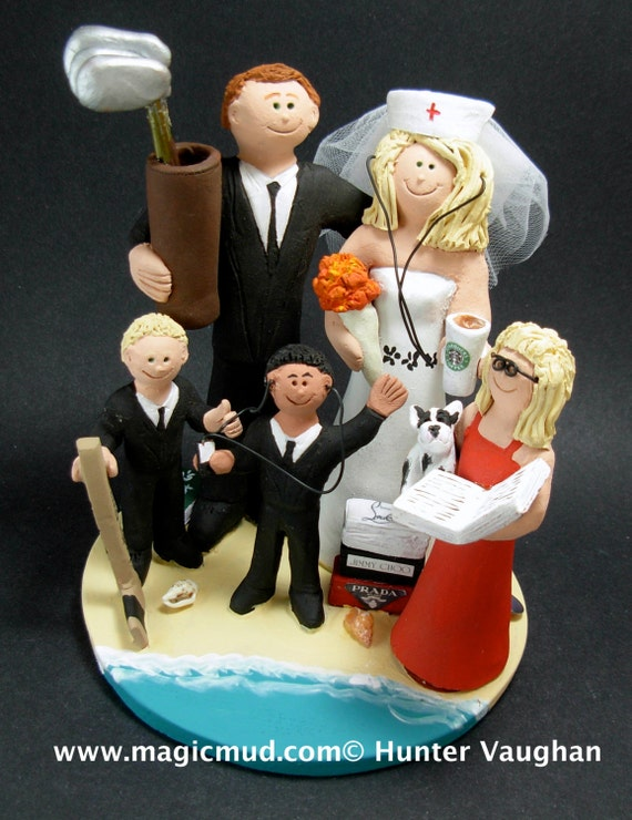 wedding cake toppers with children wedding cake topper with our children wedding caketopper with 26629