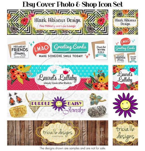 Etsy Shop Banners, Cover Photo Banner, Custom Shop Banner, Cover Photo and Shop Icon, Shop Banner Design, Colorful Cover Banner