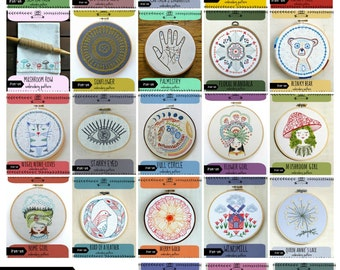 IRON-ON transfer embroidery patterns, DIY craft, iron on patterns, embroidery patterns, embroidery design, hand stitching, cozyblue on etsy