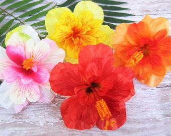Hibiscus Purty Combo Pack, Hibiscus Hair Clip, Tropical Hair Clip , Hawaiian Hair Clip, Pinup Hair Flowers