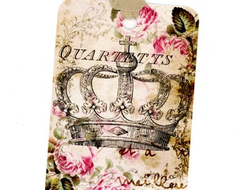 Crown Gift Tags , Vintage Crown Tags , Gift Cards , Aged Tags , Bluebird Lane Tags