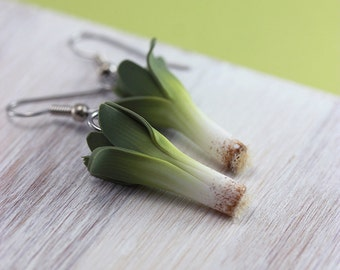 Leek Earrings