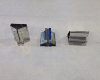 Wick Tabs for Candle Making - 50 - Metal for Wood Wicks (no wicks included)