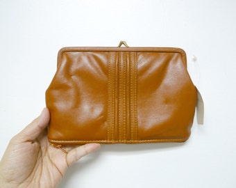 genuine leather cosmetic case . with TAG