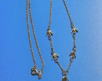 Vintage Gold Vermeil Sand Dollar Necklace