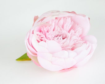 Peony Supreme in Light Pink - 5 inches - Silk Flowers, Artificial Flowers - ITEM 0210