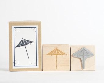 Paper Umbrella Rubber Stamp