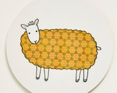 Sheep Coaster - Yellow