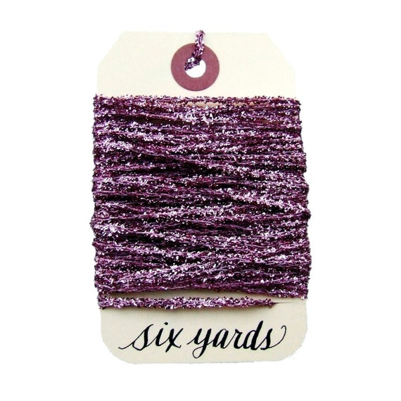 Mauve Pink Tinsel String, Six Yards Gift Wrapping Tinsel, Shimmery Holiday Decor, Metallic Pink Tinsel Ribbon, Glitter Crafts
