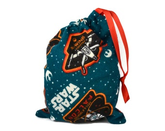 Star Wars Party Favor, Star Wars Birthday Party, Star Wars Fabric Bag,