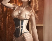 SPECIAL OFFER Double loop delicate lingerie Harness in black or ivory, size small medium and large. Ideal gift.