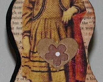Primitive Style Wood Doll Girl Civil War Era Because