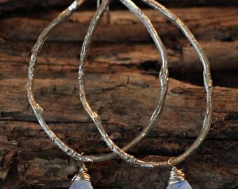 Radiant Moonstone Vine Earrings