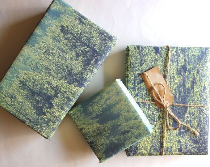 Pine Tree Forest Gift Wrapping Sheets