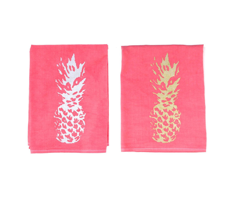 Dish Towel Sale: 50% SALE Pineapple Dish Towel / Pineapple Tea Towels / Hand
