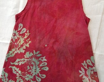 Girl's 6 batik tank dress.