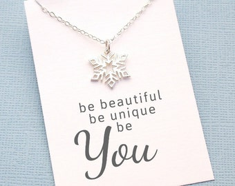 Snowflake Snowflake Necklace | Birthday Gift | Gift for Her | Be Unique Be You | Snowflake Necklace | All I want | Sterling Silver | X02