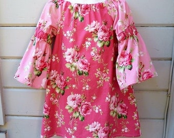 Barefoot Roses Peasant Dress for Back to School Made to Order