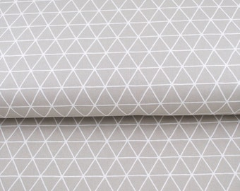 Nordic Grid in Zinc from Camelot Fabrics - grey and white geometric triangle fabric by the quarter yard