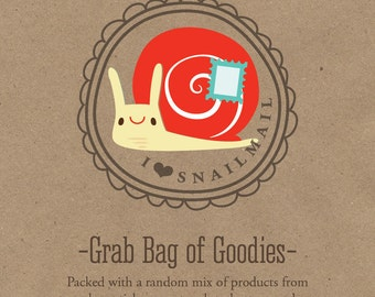 Grab Bag of Goodies, Paper goods grab bag, stocking stuffer, Gifts Under 10