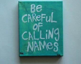 Calling Names * Folk Art Word Painting
