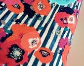Stretch KNIT fabric, Stripe Fabric, Dress fabric, Jersey Knit, Legging fabric, Headband fabric, Stretch fabric- Skopelos Paparounes Crimson