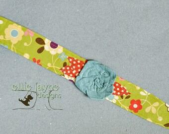Whimsy Wrap Wonderland flower rose fabric headband