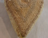 Primitive Punch Needle Heart Ornament - Neutral & Ivory