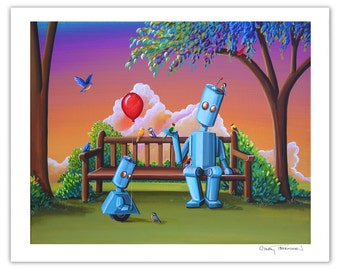 Robot Series Limited Edition - Making Friends - Signed 8x10 Semi Gloss Print (3/10)