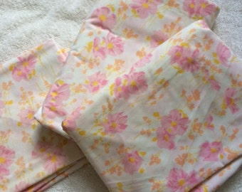 Vintage Morgan Jones Pink Floral Double sheet Set