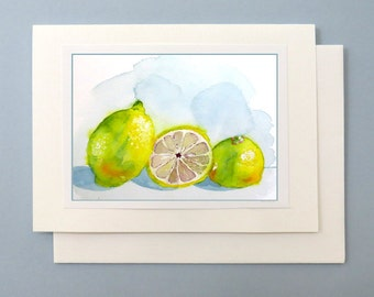 Fruit Note Card | Blank Card | Illustrated Greeting card | Handmade | Note card | A7 card | LaBerge